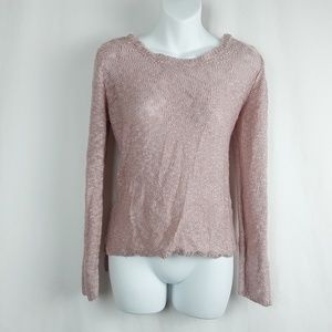 Pink Republic Sweaters - Festival Boho Chic Pink Moonstone Sweater w/ Lace